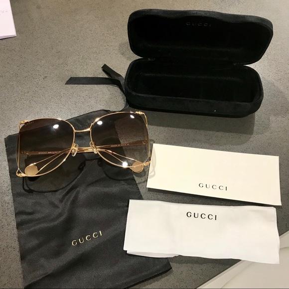 227a4132c Gucci Accessories | Gg0252s Oversize Round Frame Sunglasses | Poshmark